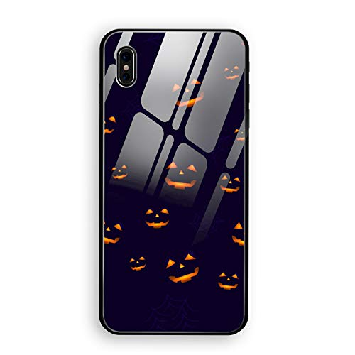iPhone X Case, iPhone 10 Case, Halloween Happy Full Body Protection Hard Slim Tempered Glass Coated Case for Apple iPhone X (2017) -