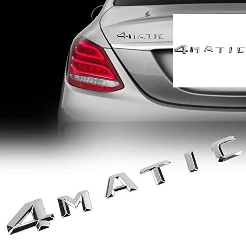 - Chrome 4MATIC 4 MATIC Logo Emblem Badge Car Rear Trunk Lid Decal Stickers for Mercedes Benz ABS