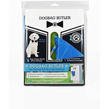 dogbag BUTLER Pet Dog Waste Bag, White with Blue