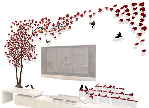 Cheap  3d Couple Tree Wall Murals for Living Room Bedroom Sofa Backdrop Tv..