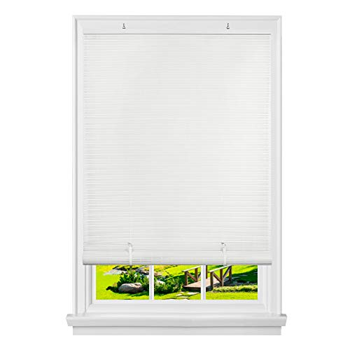 PowerSellerUSA Oval Cordless Rollup Light Filtering Window Blinds Roller Shades: 60″ (Width) x 72″ (Length), White