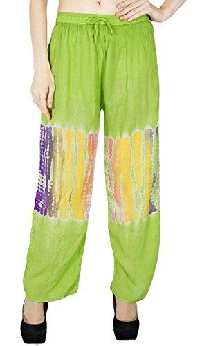 Harem Yoga Aladdin pantalones casuales Hippie Pantalones harem holgado de las mujeres Vert et violet