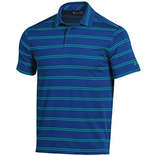 - Under Armour New Mens 2019 Eagle Stripe Golf Polo Shirt Royal Large