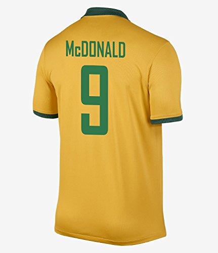 広がりインフレーション読みやすいNIKE McDONALD #9 Australia Home Jersey 2014-15/サッカーユニフォーム オーストラリア ホーム用 背番号9 マクドナルド