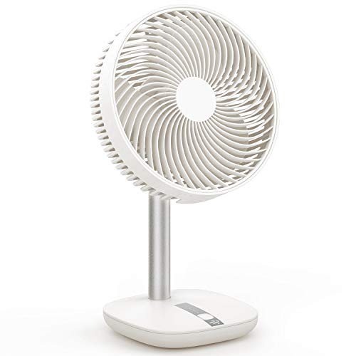 - Desk Fan Portable Mini Table Fan 3 Speeds+Natural Wind Mode,45 Degree Pivoting Head, Rechargeable Battery Powered USB Fan 2.65ft Charging Cable,Klearlook Desktop Tabletop Nightstand Fan [White,6-inch]