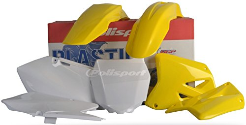 Polisport Plastics Kit Yellow for Suzuki RM 125 250 01-08 (Suzuki Rm 250 Fender compare prices)