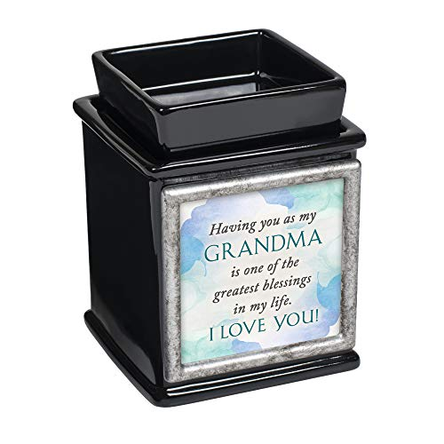 Elanze Designs Grandma Greatest Blessing Glossy Black Interchangeable Photo Frame Candle Wax Oil Warmer