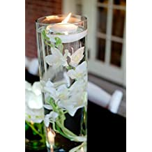 """WD Import INC (WDP-) 6 Per Pack White Floating Candles - 3"""" Wide"""