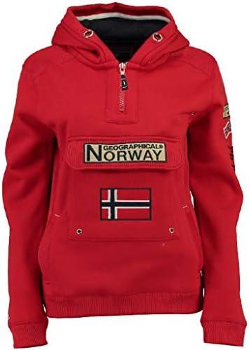 Geographical Norway Sudadera DE Hombre GYMCLASS A Rojo L