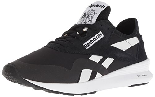 Reebok Women's Classic Nylon SP Walking Shoe, OG Blocking - Black/coal/chalk, 8 M US