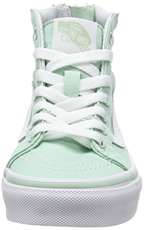 Vans Sk8-hi Zip, Unisex Kids' Hi-Top Sneakers, Green (gossamer Green/true White), 2 UK ,33 EU