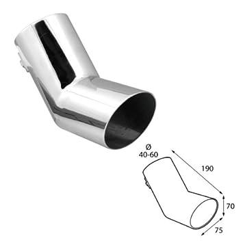 ER60013 - Acero inoxidable de tubo de escape del tubo de escape de para atornillar Embellecedor de tubos de escape universales: Amazon.es: Coche y moto