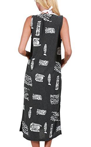 Dress Womens Tank INGEAR Cover Long Grey Up Cotton xBIOHOq