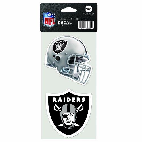 WinCraft NFL Oakland Raiders 2-Piece Die-Cut Decal, 4