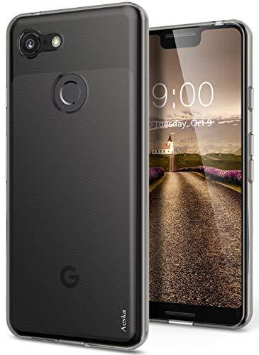 Google Pixel 3 XL Case, Aeska Ultra [Slim Thin] Flexible TPU Soft Skin Silicone Protective Case Cover for Google Pixel 3 XL (Smoke Black)