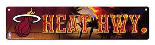 NBA Miami Heat 16-Inch Plastic Street Sign Décor ()
