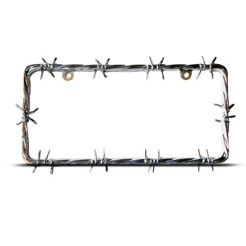 Barb Wire Heavy Duty Metal License Plate Frame Tag Holder