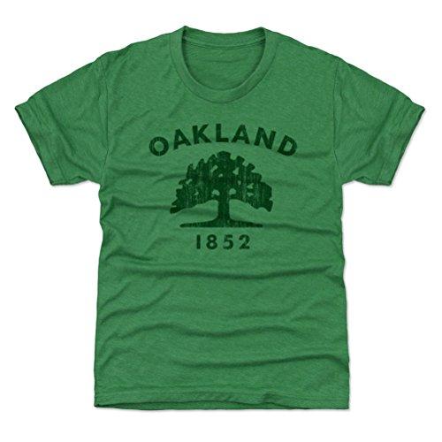 500 LEVEL Oakland Youth Shirt - Kids X-Small  Heather Kelly