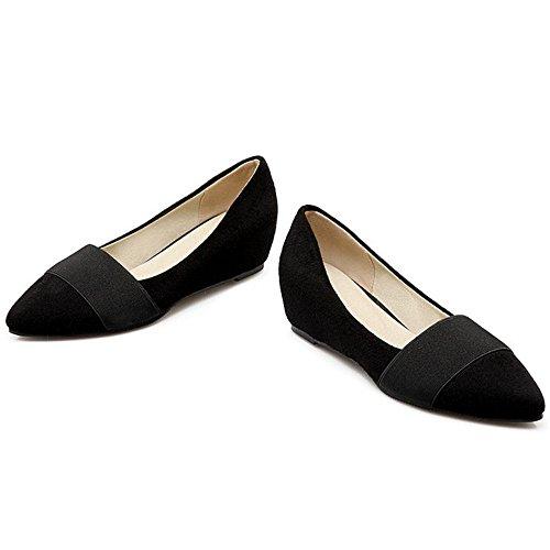 KemeKiss Heel Pumps Black Wedge Women rwnCq6ArW