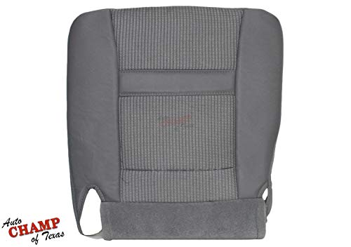 (Auto Champ Of Texas: Compatible With - 2006-2009 Dodge Ram 2500 3500 4500 SLT -Driver Side Bottom Cloth Seat Cover Gray)