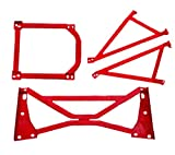 (US) TCS 4-Point Lower Middle and Rear Under H Brace Bar Set for 04-08 Mazda RX-8 RX8 (4PCS)
