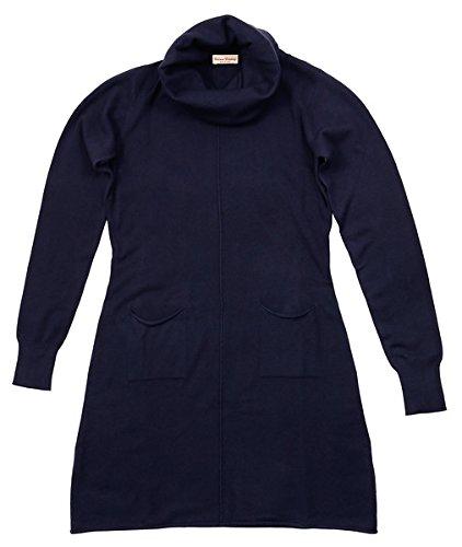 Abiti Collo Società Navy Blu Al Miscela Rotolato Vestito Cashmere Collo Alt wYxaZx6qB