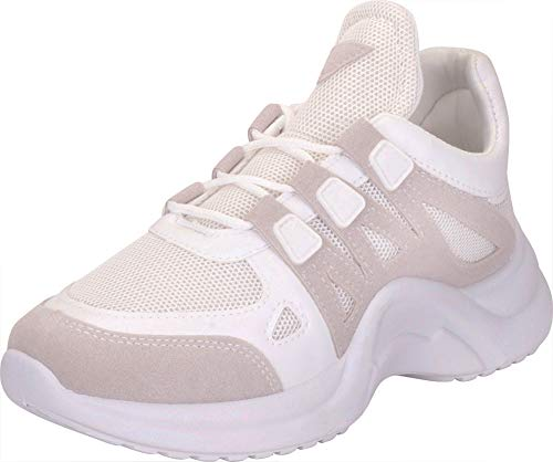 Cambridge Select Women's Retro 90s Ugly Dad Lace-Up Chunky Platform Fashion Sneaker,7 B(M) US,Grey
