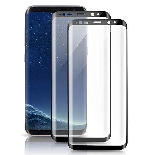 自分を引き上げる熟練した再生可能Galaxy Note8 ガラスフィルム, 【2枚】TOPJP Note8 フィルム 専用 強化ガラスフィルム 99% 透過率 【 3D全面保護ガラス2枚】「ケースに干渉せず&良いタッチ感度」 硬度9H 超薄0.33mm 指紋防止 Galaxy Note8 保護フィルム「品質保証」【ブラック】