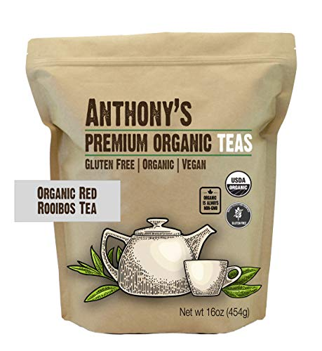 (Anthony's Organic Red Rooibos Loose Leaf Tea (1lb), Gluten-Free, Non-GMO & Non-Irradiated)