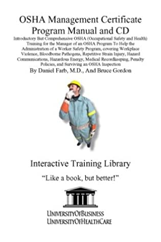 osha management certificate program manual and cd introductory but rh amazon com Safety Program Topics Safety Program Examples