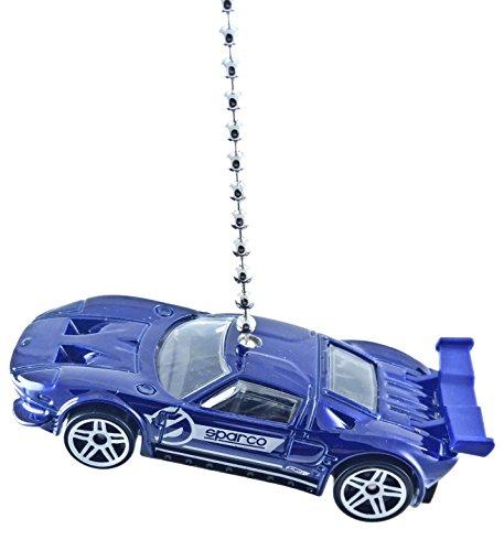 hot-wheels-car-truck-ceiling-fan-pull-beaded-chain-ford-gt-blue