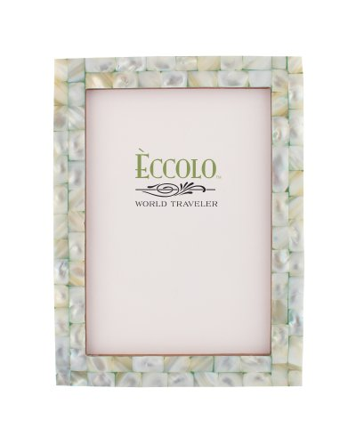 amazoncom eccolo world traveler naturals collection mother of pearl frame holds 8 by 10 inch photo green single frames