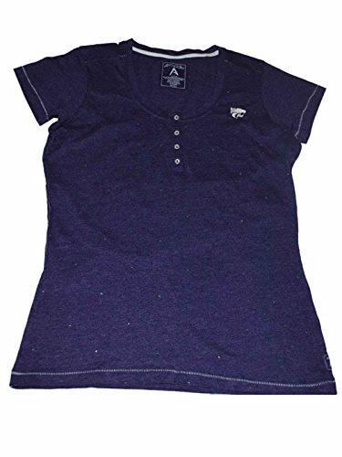 Antigua Kansas State Wildcats Women Purple Bling 4 Button T-Shirt (M)