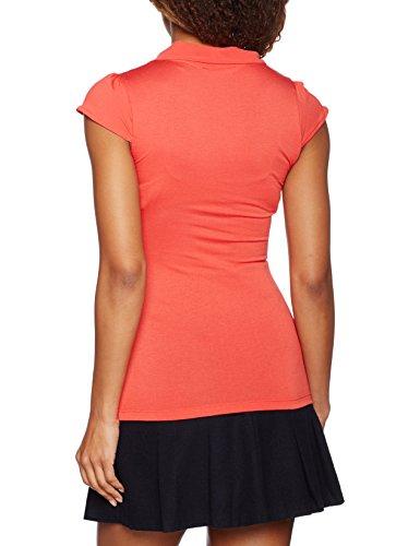 Naf Naf Poelise, Camiseta para Mujer Rouge (geranium)