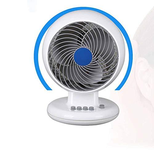 Gelaiken Desktop Fan Home Fan Fan Fan Fan, Home Office Ultra-Quiet Desk Fan Student Dormitory Fan, White,White Table Desk Fan for Home and Travel (Color : White) by Gelaiken (Image #4)