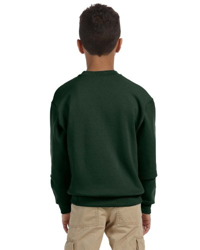 Jerzees Youth High Stitch Pill Resistant Sweatshirt, Frst Green, Large