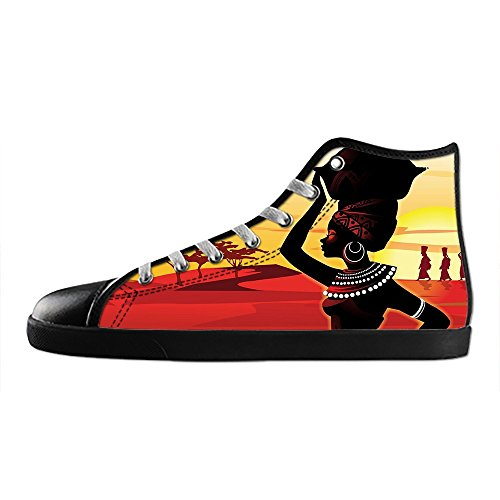 Dalliy African woman Mens Canvas shoes Schuhe Lace-up High-top Sneakers Segeltuchschuhe Leinwand-Schuh-Turnschuhe B