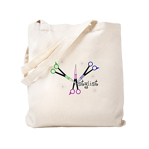 CafePress Hair Stylist/Beauticians Natural Canvas Tote Bag, Cloth Shopping Bag