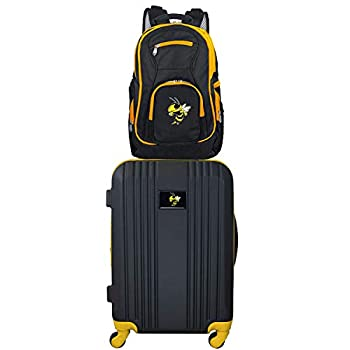 Image of Luggage Denco NCAA Georgia Tech Yellow Jackets 2-Piece Luggage Set2-Piece Luggage Set, Black, 21
