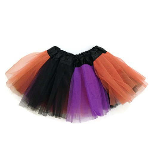 Rush Dance Colorful Ballerina Baby Dress-Up Princess Costume Recital Tutu (Infant 0-3 Years, Orange/Purple/Black (Halloween)) - Baby Jane Halloween Costume