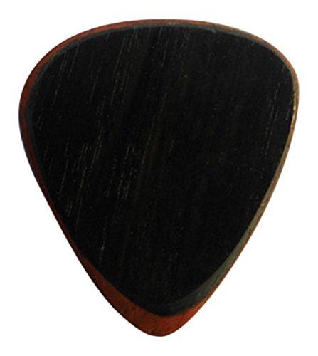 Clayton EFEP/3 Exotic Guitar Fuse Picks, Ebony/Padauk, 3-Pack - Ebony Guitar Pick