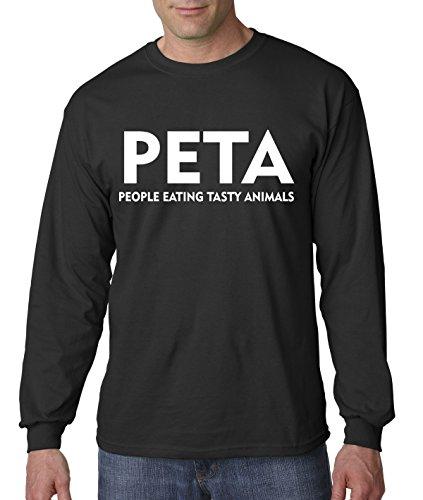 Tasty People Eating Animals (New Way 608 - Unisex Long-Sleeve T-Shirt PETA People Eating Tasty Animals Parody Large Black)