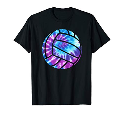 Volleyball Tie Dye Blue Purple Teenage Girls Perfect Gift T-Shirt