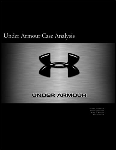 Decorar aceptar Descortés  Under Armour Case Analysis: 9780692691724: Economics Books @ Amazon.com