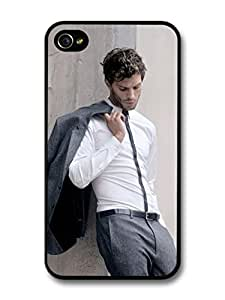 AMAF ? Accessories Christian Grey Jamie Dornan Posing in Grey Suit case for iPhone 4 4S