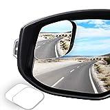 WildAuto Blind Spot Mirror for Trucks,HD Glass Frameless Convex Rear View Mirror,360° Adjustable Stick-on Side View Spot Mirror