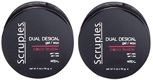 Scruples Dual Design Gel and Wax, 4 Ounce (Set of 2) (Hair Design Scruples)