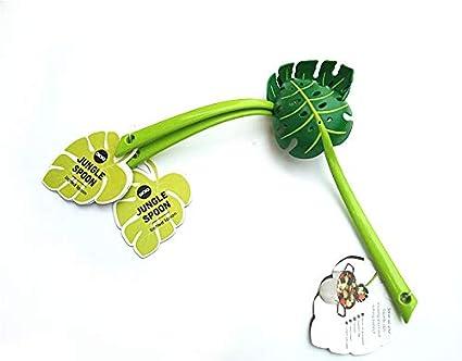 Petilleur 2 unidades Multi-Functional Creative Colander Leaf-Shaped Strainers Noodles Forks Cooking Shovels Pasta Filter Spoon Kitchen Tool.