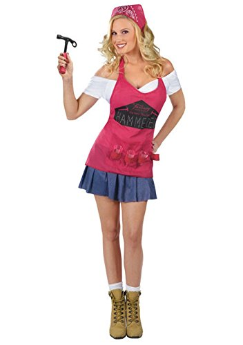 [Mememall Fashion Sexy Happy Hour Hammer Time Handyman Tool Girl Adult Halloween Costume] (Scarlett O Hara Halloween Costumes)