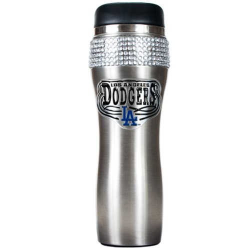 ers 16-Ounce Stainless Steel Bling Tumbler (Los Angeles Dodgers Rhinestone)
